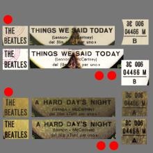 THE GREATEST STORY - A HARD DAY'S NIGHT ⁄ THINGS WE SAID TODAY - 3C 006-04466 - APPLE - A - pic 1