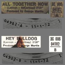 THE GREATEST STORY - ALL TOGETHER NOW ⁄ HEY BULLDOG - 3C 006-04982 - APPLE - A - pic 1