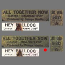 THE GREATEST STORY - ALL TOGETHER NOW ⁄ HEY BULLDOG - 3C 006-04982 - APPLE - B - pic 1
