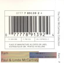 The Paul McCartney Collection 02 Ram 0777 7 89139 2 4 hol - pic 11
