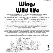 The Paul McCartney Collection 03 Wings Wild Life  0777 7 89237 2 5 hol - pic 7