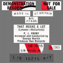 P.J. PROBY - THAT MEANS A LOT - UK - LIB 10215 - PROMO - pic 1