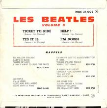 BELGIUM - FRANCE - LES BEATLES Volume 3 - MEO 21 003 - pic 1