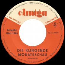 Beatles Discography DDR 030 KLINGENDE MONATSSCHAU 3 / 1965 - SWEET GEORGIA BROWN / WHY  - pic 1