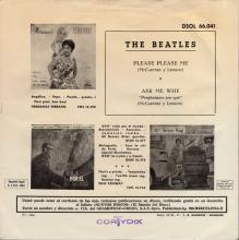 SPAIN 1963 04 30 - PLEASE PLEASE ME ⁄ ASK ME WHY - SLEEVE 08 LABEL B - DSOL 66.041 - pic 1