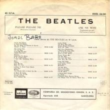 SPAIN 1963 04 30 - PLEASE PLEASE ME ⁄ ASK ME WHY - SLEEVE 11 LABEL B - DSOL 66.041 - pic 1