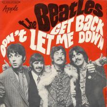 fr310 Get Back / Don't Let Me Down  J 2C 006 04084 M - pic 1