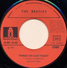 fr160 A Hard Day's Night / Things We Said Today   J 2C 006-04466 - pic 1