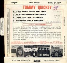 TOMMY QUICKLY - TIP OF MY TONGUE - VOGUE ⁄ PYE - PNV.24129 ⁄ EXPV 4111 B-P - FRANCE EP - pic 1