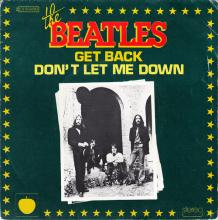 THE BEATLES DISCOGRAPHY FRANCE - OLDIES BUT GOLDIES - 010 L1-P3 - GETBACK / DON'T LET ME DOWN - E 2C 010-04084 - pic 1