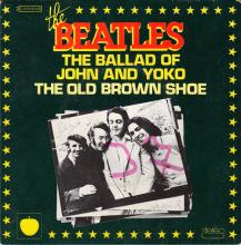 THE BEATLES DISCOGRAPHY FRANCE - OLDIES BUT GOLDIES - 020 L1-P1 - THE BALLAD OF JOHN AND YOKO/THE OLD BROWN SHOE- E 2C 010-04108 - pic 1