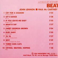 THE BEATLES DISCOGRAPHY FRANCE 1987 00 00 BEATLES A PIECE OF HISTORY...ORIGINAL 1961 - ATOLL - ATO 8617 - pic 5