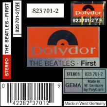 gerCD1994 The Beatles-First - 823 701-2 YH - Polydor / BEATLES CD DISCOGRAPHY UK - pic 1