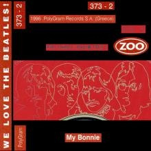 grCD 1996 We Love The Beatles - My Bonnie ⁄ PolyGram 373-2 ZOO / BEATLES CD DISCOGRAPHY UK - pic 1