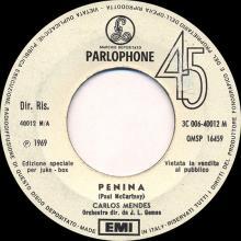 1969it Carlos Mendes - Penina -promo- 3C 006-40012 M / QMSP 16459     - pic 1