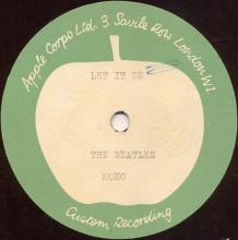 The Beatles Acetate Let It Be - pic 1
