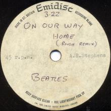 THE BEATLES ACETATE - ON OUR WAY HOME - (Rough Remix) - pic 1