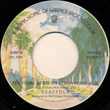 0010be Liverpool Lou - Ten  Years After On Strawberry Jam / Mike McGear - Scaffold / WB 16400 - pic 1