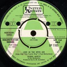 """1966uk George Martin & His Orchestra - Love In The Open Air / Them From """"The Family Way"""" -promo- UP 1165 - pic 1"""