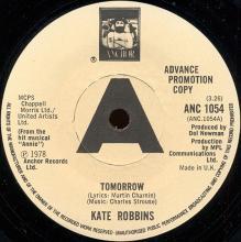1978uk Kate Robbins -Tomorrow -promo- ANC 1054 - pic 1
