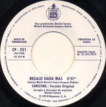 1974 09 06 - MIKE McGEAR - LEAVE IT ( DÉJALO ) - CP - 251 - PROMO - SPAIN  - pic 1
