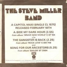 1969uk The Steve Miller Band - My Dark Hour -promo- CL 15712 - pic 1