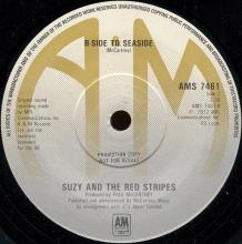1977uka Suzy And The Red Stripes - Seaside Woman / B-Side To Seaside -promo- AMS 7461 - pic 1
