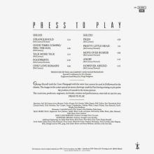 SPAIN 1986 - PRESS TO PLAY - PROMO LP - 074 24 0598 1 - pic 1