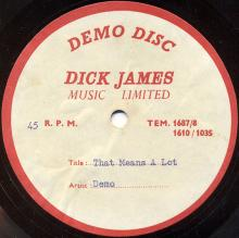 The Beatles Acetate That Means A Lot - pic 1