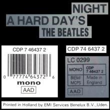 1987 uk03CD A Hard Day's Night - CDP 7 46437 2 / BEATLES CD DISCOGRAPHY UK - pic 1