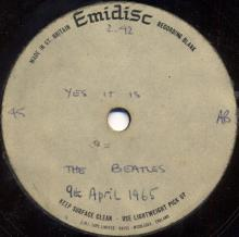 THE BEATLES ACETATE - YES IT IS - pic 1
