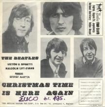 yu001- Yugoslavenski Beatles Fan Club - Christmas Time Is Here Again - U-SD 30 - T.U. JUGOTON -BEATLES DISCOGRAPHY YUGOSLAVIA - pic 1